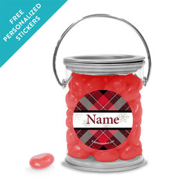 Buffalo Plaid Personalized Paint Cans (25 Pack)