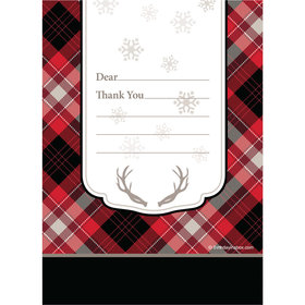 Buffalo Plaid Personalized Thank You Note