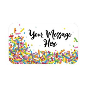 Sprinkles Personalized Rectangular Stickers (18 Stickers)