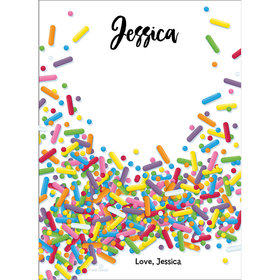 Sprinkles Personalized Thank You Note