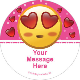 "Emojis Pink Personalized 2"" Stickers (20 Stickers)"