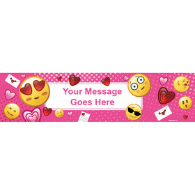 Personalized Emojis Pink 5 Ft. Banner