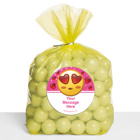 Emojis Pink Personalized Cello Bags (Set of 30)