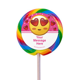 "Emojis Pink Personalized 3"" Lollipops (12 Pack)"