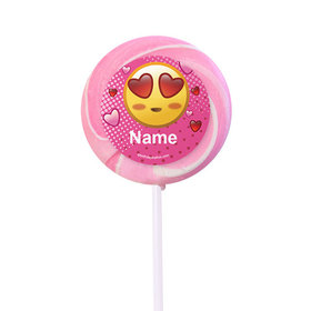 """Emojis Pink Personalized 2"""" Lollipops (24 Pack)"""