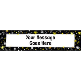 Personalized Sparkle Milestone Birthday 5 Ft. Banner