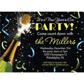 Sparkle Birthday Milestone Personalized Invitation