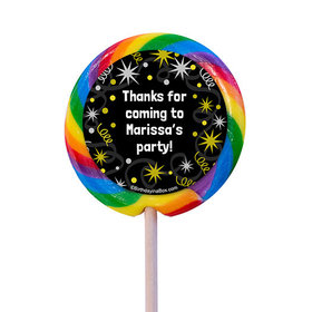 "Sparkle Birthday Milestone Personalized 3"" Lollipops (12 Pack)"