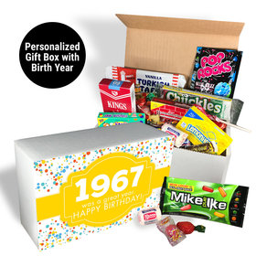 Nostalgic Candy Personalized Retro Birthday Gift Box