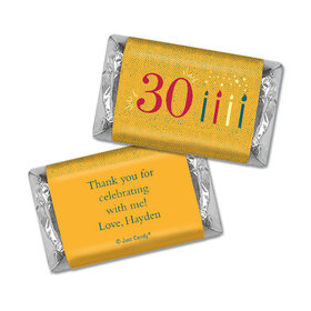 Personalized Birthday Vintage Thirty Hershey's Miniatures