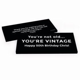 Deluxe Personalized Vintage Birthday Birthday Hershey's Chocolate Bar in Gift Box