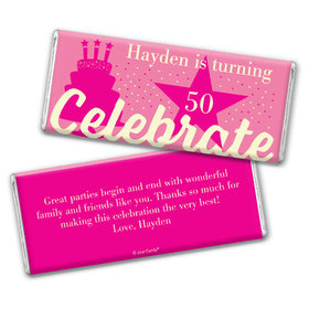Personalized Milestone Birthday Let's Celebrate Chocolate Bar