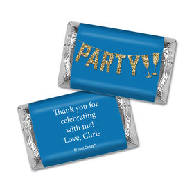 Personalized Let's Party Birthday Hershey's Miniatures Wrappers Only