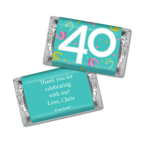Personalized Hershey's Miniatures - Forty Confetti Birthday