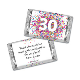 Personalized Hershey's Miniatures - Confetti Burst Birthday