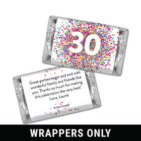 Personalized Confetti Burst Birthday Hershey's Miniatures Wrappers Only