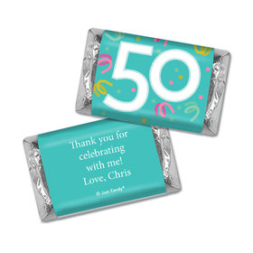 Personalized Hershey's Miniatures - Fifty Confetti Birthday