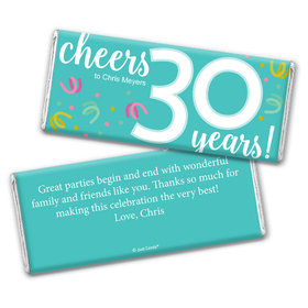 Personalized Milestone Birthday Thirty Confetti Chocolate Bar