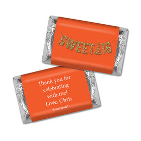 Personalized Birthday Sweet 16 Glitter Party Hershey's Miniatures