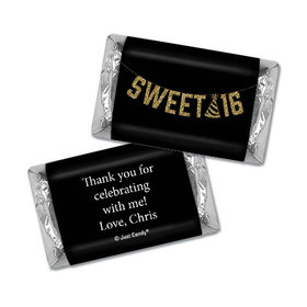 Personalized Birthday Sweet 16 Glitter Party Hershey's Miniatures Wrappers