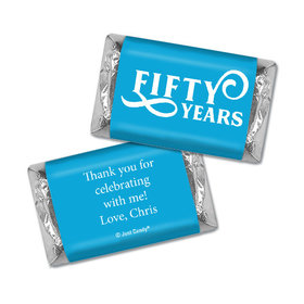 Personalized Hershey's Miniatures - Milestones 50th Type Birthday