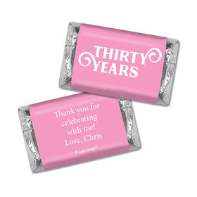 Personalized Hershey's Miniatures - Milestones 30th Type Birthday