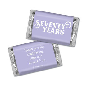 Personalized Hershey's Miniatures - Milestones 70th Type Birthday