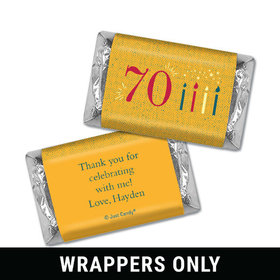 Personalized Birthday Vintage Seventy Hershey's Miniatures Wrappers
