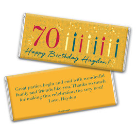 Personalized Milestone Birthday Vintage Seventy Chocolate Bar Wrappers