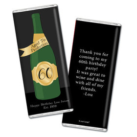 Personalized Milestone Birthday Aged To Perfection Chocolate Bar