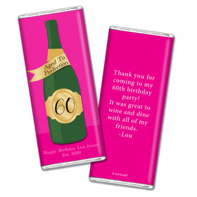 Personalized Milestone Birthday Aged To Perfection Chocolate Bar Wrappers