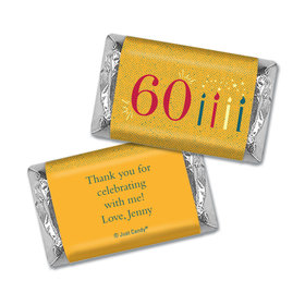 Personalized Vintage 60th Birthday Hershey's Miniatures Wrappers