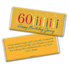 Personalized Milestone Vintage 60th Birthday Chocolate Bar & Wrapper