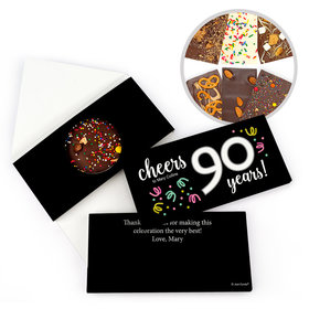 Personalized Birthday Milestone Ninety Confetti Birthday Gourmet Infused Belgian Chocolate Bars (3.5oz)