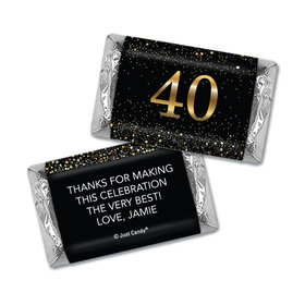 Personalized Elegant Birthday Bash 40 Hershey's Miniatures