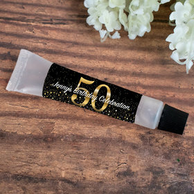 Hand Sanitizer Tube Personalized Milestone 50th Birthday 0.5 fl. oz.