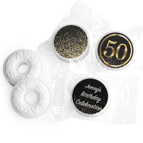Personalized Life Savers Mints - Elegant Birthday Bash 50 with Logo