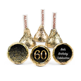 Personalized Elegant 60th Birthday Bash Hershey's Kisses (50 pack)