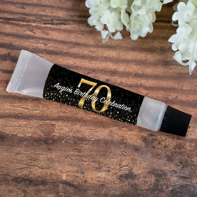 Hand Sanitizer Tube Personalized Milestone 70th Birthday 0.5 fl. oz.