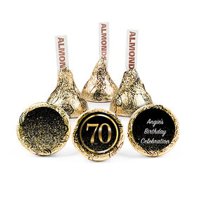Personalized Elegant 70th Birthday Bash Hershey's Kisses (50 pack)