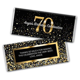 Personalized Milestone Elegant Birthday Bash 70 Chocolate Bar