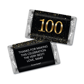 Personalized Elegant Birthday Bash 100 Hershey's Miniatures Wrappers