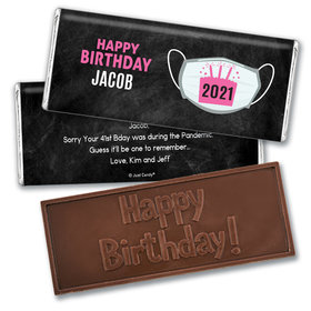 Personalized Birthday Colors Embossed Chocolate Bars