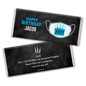 Personalized Birthday Colors Chocolate Bars