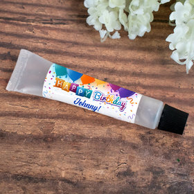 Hand Sanitizer Tube Personalized Birthday Balloons 0.5 fl. oz.