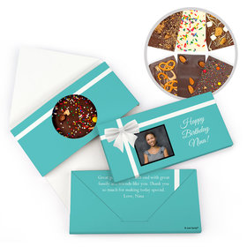 Personalized Photo & Bow Birthday Gourmet Infused Belgian Chocolate Bars (3.5oz)