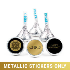 """Personalized 3/4"""" Stickers - Metallic Birthday Seal (108 Stickers)"""