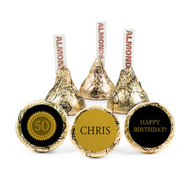 Personalized Milestone 50th Birthday Seal Hershey's Kisses (50 pack)