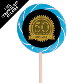 "Birthday Personalized 3"" Swirly Pop Age Seal (12 Pack)"