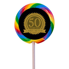 """Birthday Personalized 3"""" Swirly Pop Age Seal (12 Pack)"""